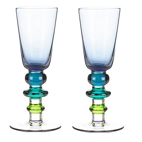 Sagaform - Set of two blue +Spectra+ shot glasses