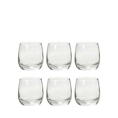 Sagaform - Set of six glass whiskey tumblers