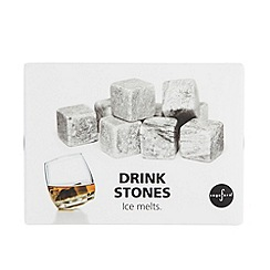 Sagaform - Set of nine grey drink stones