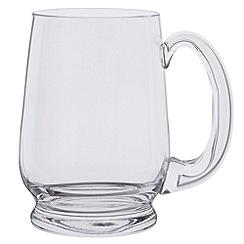 Dartington - Glass 'Barley Corn' pint tankard