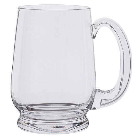 Dartington - Glass +Barley Corn+ pint tankard