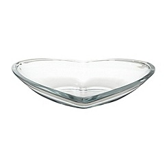 Vidivi Glass made in italy - Heart shaped large bowl