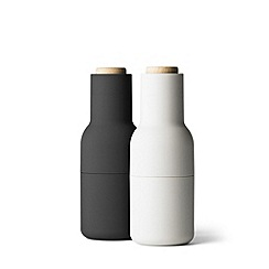 Menu - Black & white 'Bottle' salt and pepper grinders