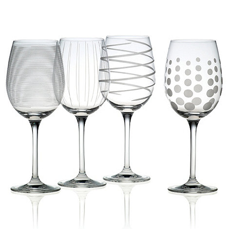 Creative Tops - Set of four etched +Cheers+ white wine glasses