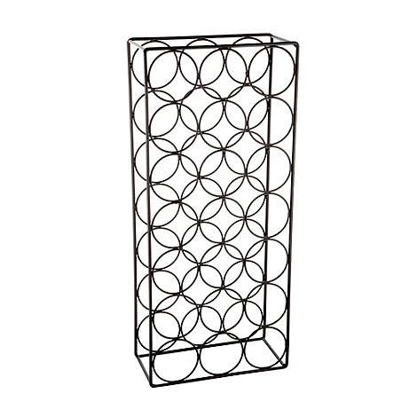 Debenhams - Black 21 bottle wine rack