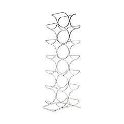 Debenhams - Three tier stacking metal wine rack