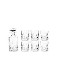 Royal Crystal Rock - Crystal 'Opera' 7 piece whisky set