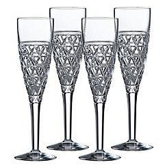 Royal Doulton - Oblique Champagne Flute 4pce Set