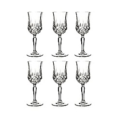Royal Crystal Rock - Set of six crystal 'Opera' wine glasses