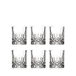 Royal Crystal Rock - Set of six crystal 'Opera' whisky tumblers