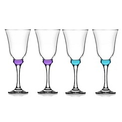Istyle - Set of four purple tinted wine glasses
