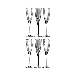 Bunnykins By Royal Doulton - Set of 6 crystal 'Linear' champagne flute