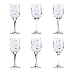 Star by Julien Macdonald - Swirl wine glass set of 6