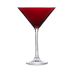 Ben de Lisi Home - Set of six red martini glasses
