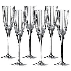 Royal Doulton - Linear set of 6 champagne flutes