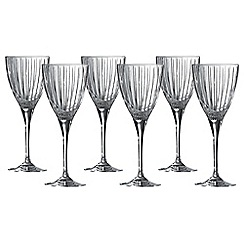 Royal Doulton - Linear set of 6 wine glasses