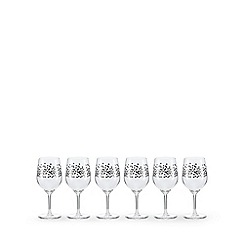Istyle - Set of six star wine glasses