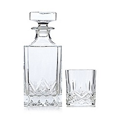 Royal Crystal Rock - Seven piece 'Opera' crystal decanter and tumblers whiskey set