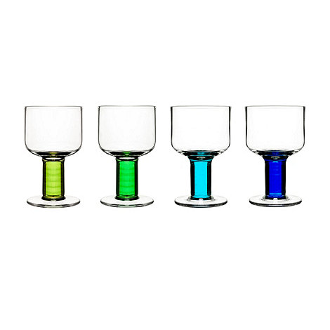 Sagaform - Set of four 'Club' wine glasses