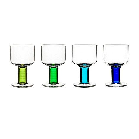 Sagaform - Set of 4 +Club+ wine glasses