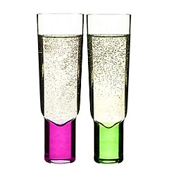 Sagaform - Set of two 'Club' champagne glasses