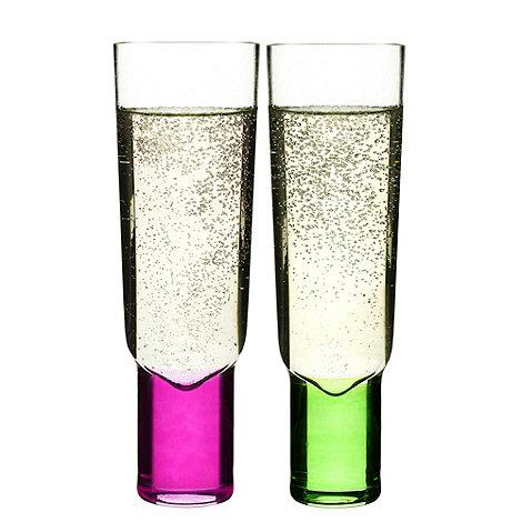 Sagaform - Set of 2 +Club+ champagne flutes