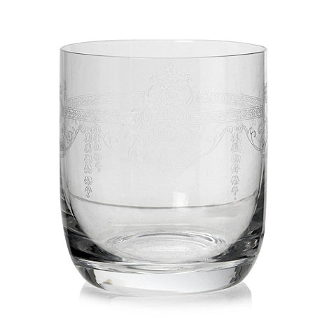 Debenhams - Flora etched glass tumbler