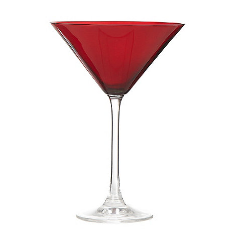 Debenhams - Individual red +Espirit+ martini glass