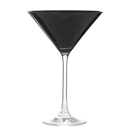 Debenhams - Individual black +Espirit+ cocktail glass