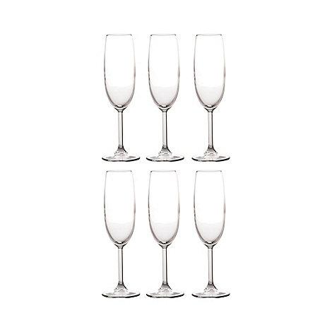 Maxwell & Williams - Set of six +Cuvee+ flute glasses