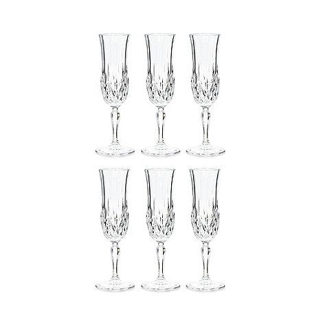 Royal Crystal Rock - Set of six crystal +Opera+ champagne flutes