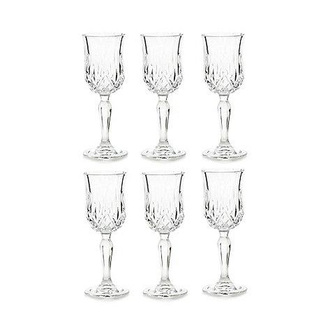 Royal Crystal Rock - Set of six crystal glass +Opera+ liqueur glasses