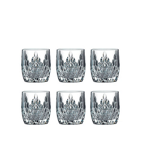 Royal Doulton - Set of six +Retro+ glass tumblers