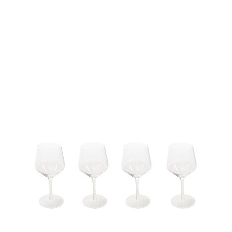 Rayware - Set of four glass +Dema Elegance+ wine glasses