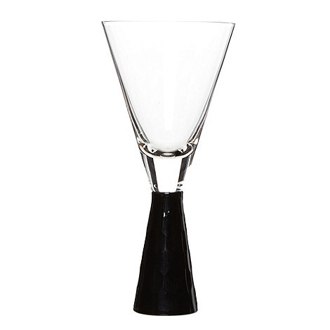 Star by Julien Macdonald - Designer +Black cut+ stem wine glass
