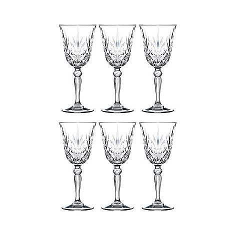 Royal Crystal Rock - Set of 6 crystal +Melodia+ wine glasses