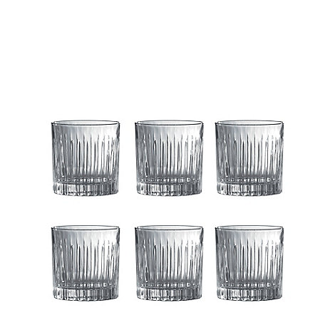 Royal Doulton - Set of 6 crystal +Linear+ tumbler