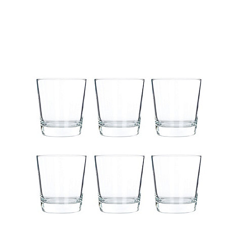 Maxwell & Williams - Set of six glass +Cuvee+ whiskey tumblers