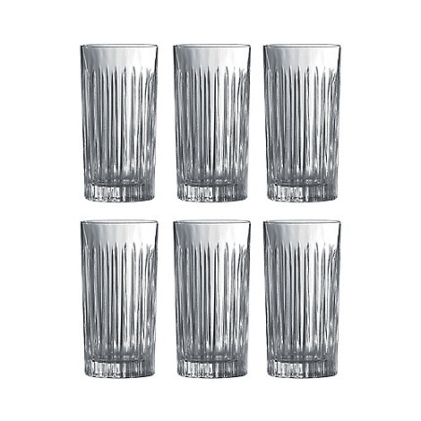 Royal Doulton - Pack of six crystaline +Linear+ hi-ball tumblers