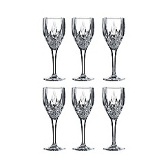 Royal Doulton - Set of six 'Retro' wine glasses