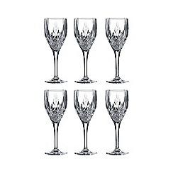 Royal Doulton - Set of six 'Retro' wine glasses