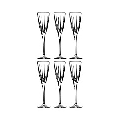 Royal Doulton - Royal Doulton set of six glass champagne flutes