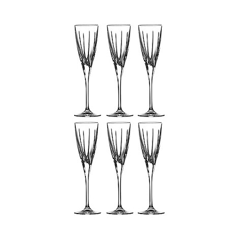 Royal Doulton - Set of six glass champagne flutes
