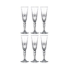 Royal Crystal Rock - Set of 6 crystal 'Melodia' flute glasses