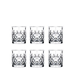 Royal Crystal Rock - Set of 6 crystal 'Melodia' tumbler glasses