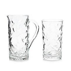 Royal Crystal Rock - Crystal glass 'Laurus' seven piece drink set