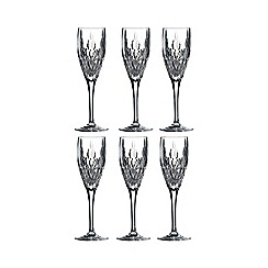 Royal Doulton - Royal Doulton set of six 'Retro' champagne flutes