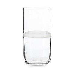 Ben de Lisi Home - White ring hi-ball glass