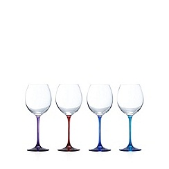 Ben de Lisi Home - Designer set of four coloured wine glasses