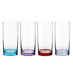 Ben de Lisi Home - Set of four coloured base high ball glasses